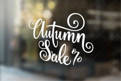 Autumn Sale - Fall Lettering   SVG Cut file   Vector EPS Product Image 3
