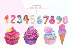 Sweet alphabet. Watercolor letter Product Image 5