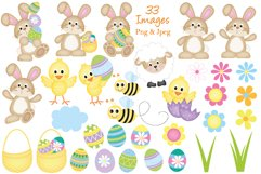 Easter clipart, Easter bunny graphics & illustrations Product Image 2