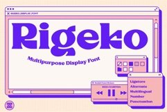 Rigeko-Unique Display Font Product Image 1