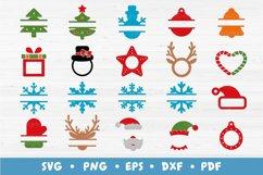 20 Christmas Frames Bundle, Monogram Frames SVG Cut Files Product Image 1