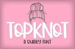 Web Font Top Knot - A Quirky Caps Font Product Image 1