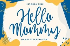 Hello Mommy - Modern Handlettering Product Image 1