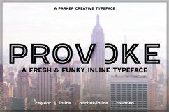 Provoke Trendy Inline Typeface Product Image 1