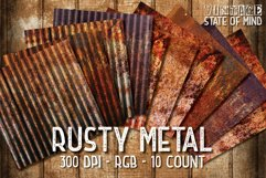 Rusty Metal Digital Papers Product Image 2
