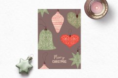 Vintage Christmas clipart | Cozy Holiday clipart ornaments Product Image 4