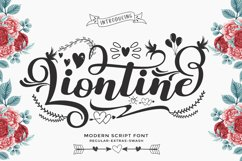 Liontine Script - Swash With Extras - Product Image 1