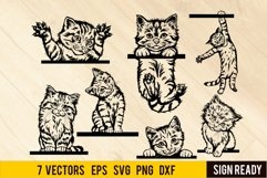 Cat Svg, Kitty Svg, Cat Digital, Cats Vector, Cat Faces Product Image 1