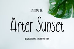 After Sunset Handwritten Condensed Product Image 1