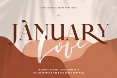 January Love Font Duo With 10 Logos & More Extras Product Image 1