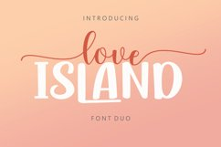 Love Island Font Duo Product Image 1