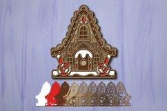 Gingerbread House svg bundle 3D Christmas Papercut Product Image 5