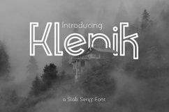 Klenik - A Slab Seriff Font Product Image 1