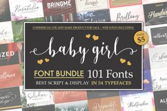 Baby Girl Font Bundle Product Image 1