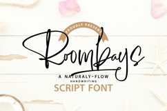 Roombays - Narutaly Flow Handwriting Script Font Product Image 1