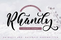 Rhandy - Uniquely & Naturally Handwritten Product Image 1