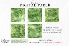 Forest fern digital paper, summer scrap book paper 12x12 Product Image 2