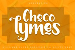 Chocolymes - Boldy Handwriting Script Font Product Image 1