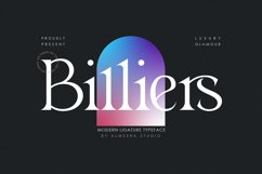 Billiers | Modern Ligature Typeface Product Image 1