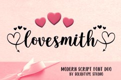 Lovesmith Font Duo Product Image 1