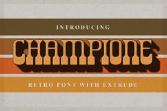 Champione | Retro Font with Extrude Product Image 1