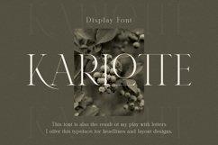 Karlotte - Elegant Serif Font Product Image 1