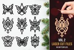 Laser Cut Files Vol.2 - 50 Butterfly Ornaments Bundle Product Image 1