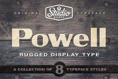 Powell   Rugged Display Typeface Product Image 1