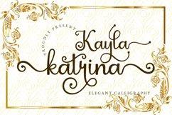 Kayla Katrina - Swirly Calligraphy Product Image 1
