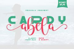 Cardy Abela Font Duo - Bold Sans and Tail Swash Script Product Image 1