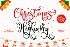 Christmas Highway - Swirly and Bouncy Script Product Image 1