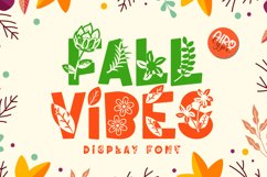 Fall Vibes - Floral Font Autumn Season Product Image 1