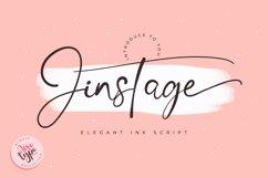 Jinstage Script - Ink Signature Font Product Image 1