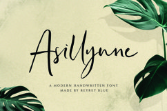 Asillynne - Signature Font Product Image 1