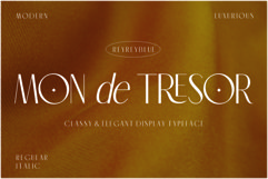 Mon de Tresor - Elegant San Serif Product Image 1
