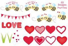 Valentine clipart, Valentine bear graphics & illustrations Product Image 3