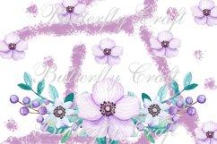 Flowers Digital Paper, Floral scrapbooking paper Product Image 4