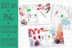 Santa, Milk, Cookies, PNG, Sublimation Design, Printable Product Image 2
