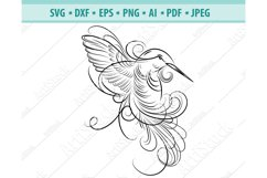 Hummingbird SVG, Hummingbird Wreath svg, Bird Dxf, Png, Eps Product Image 1
