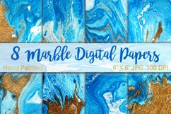 Marble Background Blue and Gold Product Image 1