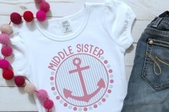 Nautical Middle Sister Sibling Design Product Image 2