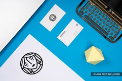 2 Business Card Mockup in Blue Product Image 2