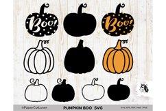 Pumpkin SVG Bundle Halloween Polka Dot Pumpkin Boo Svg Product Image 4