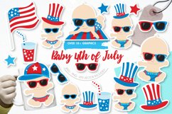 Baby 4th of July graphics and illustrations Product Image 1