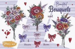 Romantic Gnomes at Valentine's Day. Hand drawing clipart. Product Image 3
