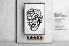Halloween character scary zombie head with brains out Product Image 4
