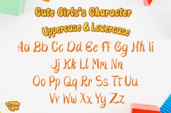 Cute Girls - Child font with doodle glyphs Product Image 2