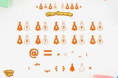 Christmas Tree Display font winter procreate font Xmas fonts Product Image 4