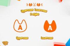 Cat Monogram Display font Procreate font Pet font Product Image 2