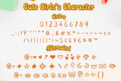 Cute Girls - Child font with doodle glyphs Product Image 3